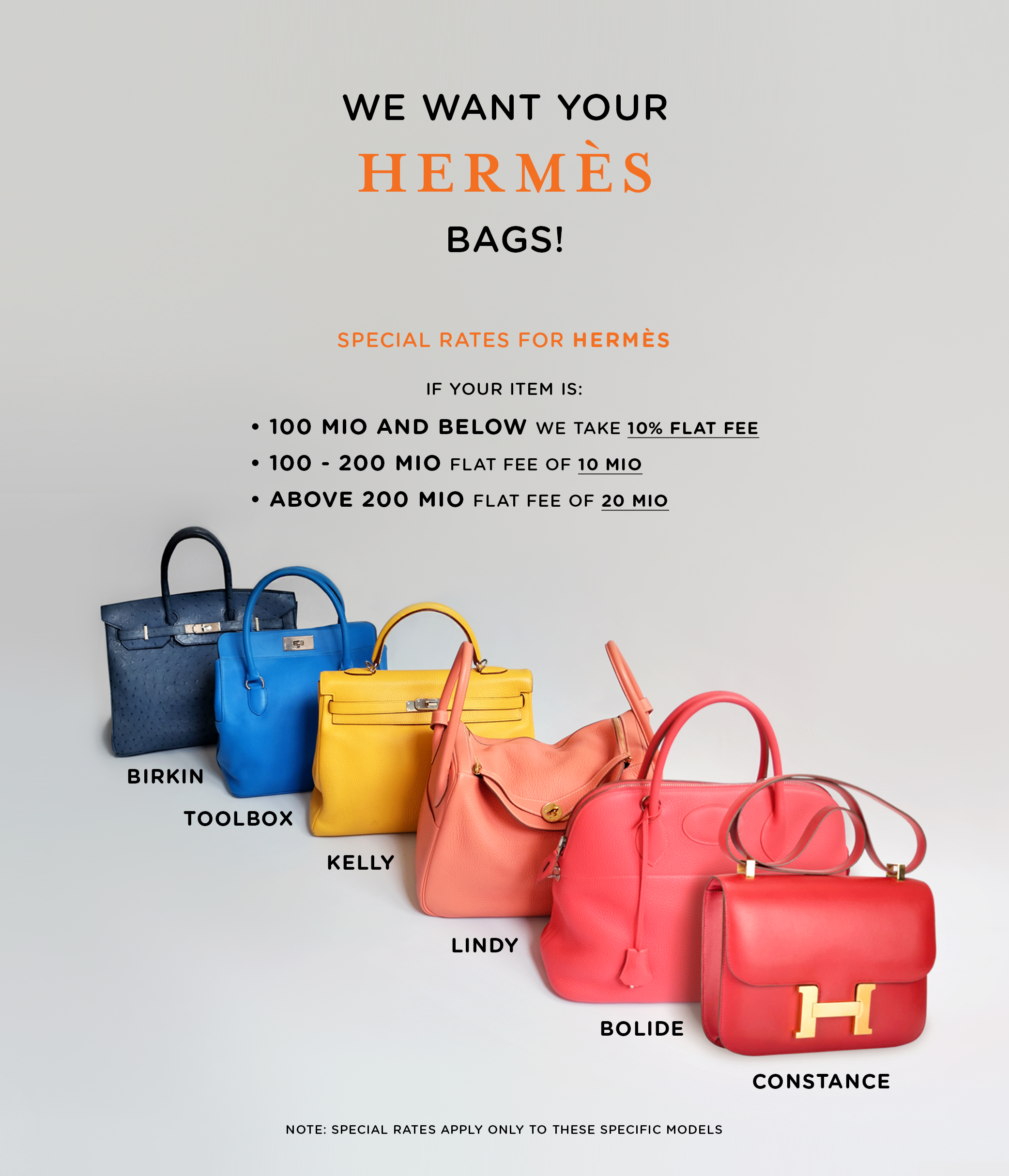Consign Your HERMES Bags